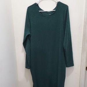 Old Navy Green Fitted Maternity Sweater Dress